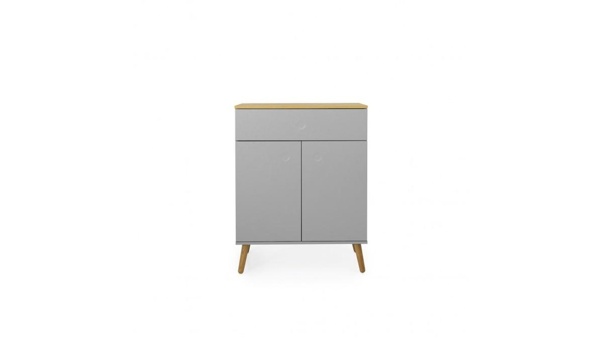 Sideboards und Kommoden - Tenzo Kommode DOT mit zwei Türen grau Eiche  - Onlineshop Moebel–style.de