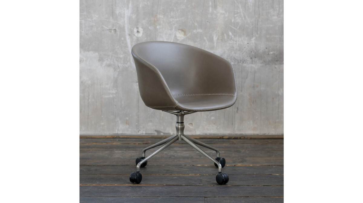 Stühle und Bänke - KAWOLA Stuhl SANA Esszimmerstuhl Drehstuhl Besprechnungsstuhl Kunstleder grau  - Onlineshop Moebel–style.de