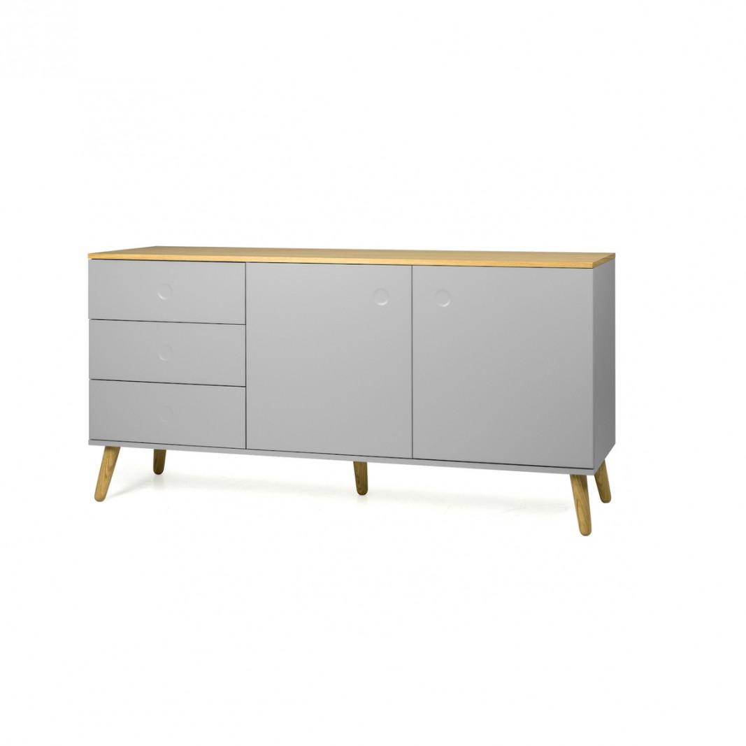 Sideboards und Kommoden - Tenzo Sideboard DOT mit zwei Türen grau Eiche  - Onlineshop Moebel–style.de