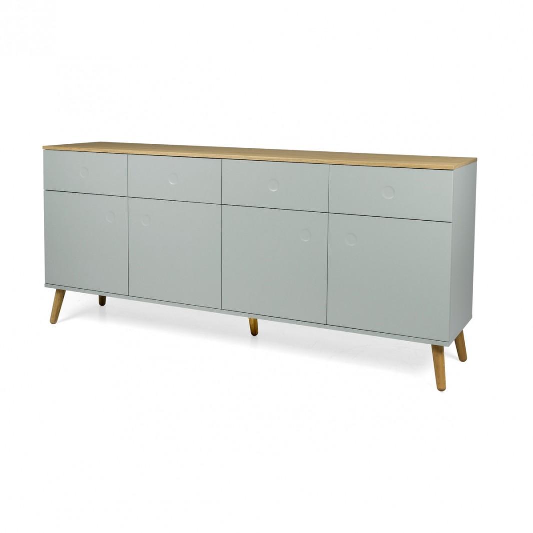 Sideboards und Kommoden - Tenzo Sideboard DOT mit vier Türen grün Eiche  - Onlineshop Moebel–style.de