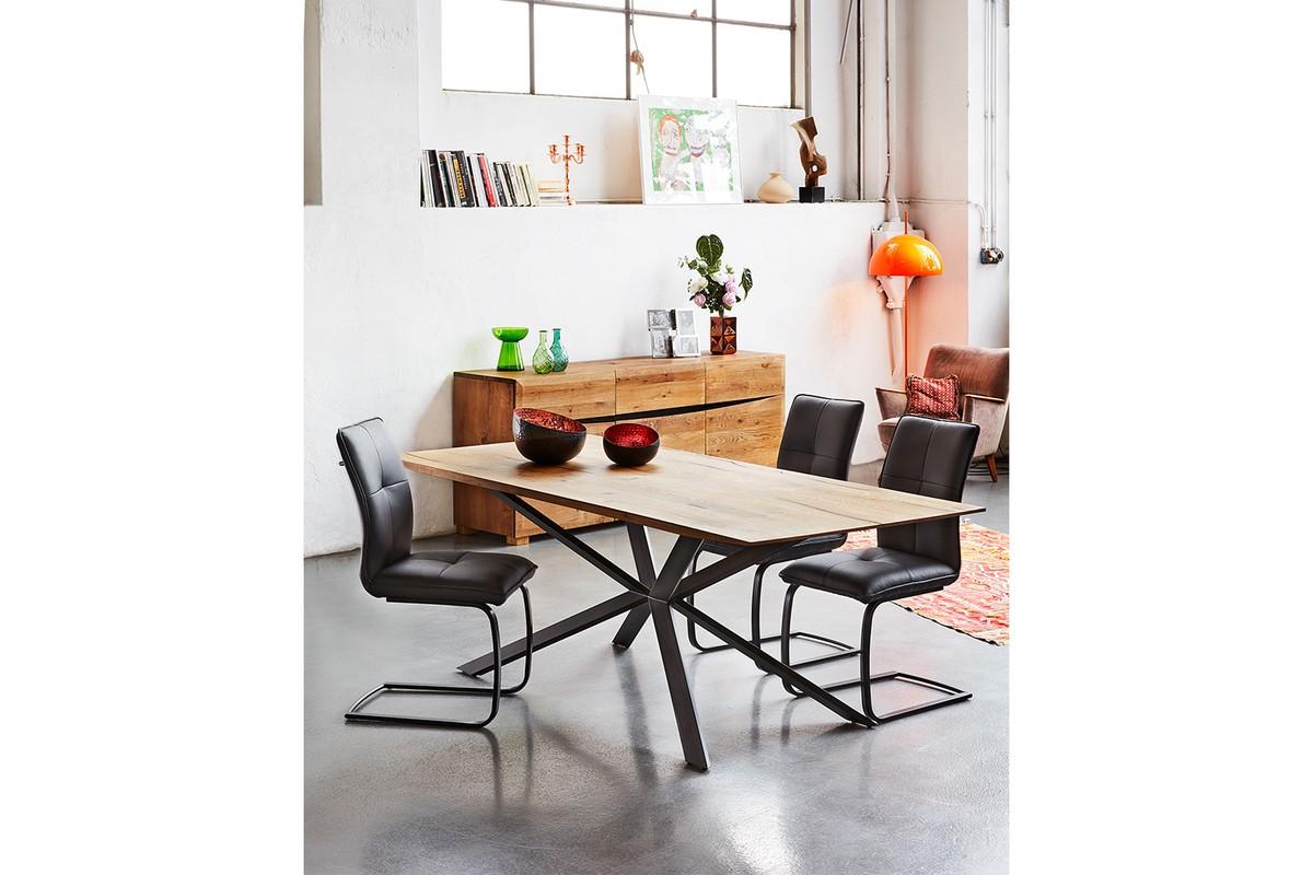 Tische - KAWOLA Esstisch YOSHA Eiche massiv (L B H) 220x95x76cm  - Onlineshop Moebel–style.de