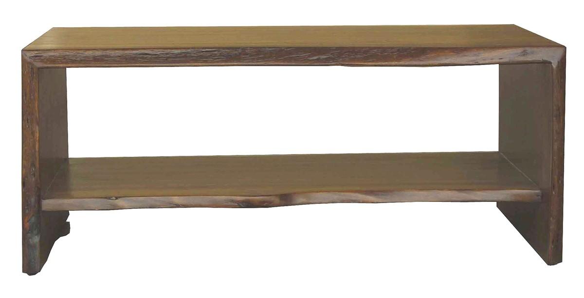 Wohnzimmertische - KAWOLA Couchtisch Loft Edge Akazie Massiv Holz Baumkante B H T 110x45x65cm  - Onlineshop Moebel–style.de