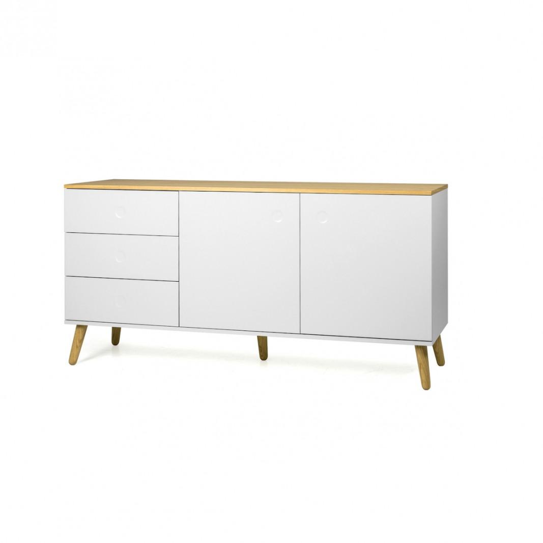 Sideboards und Kommoden - Tenzo Sideboard DOT mit zwei Türen weiß Eiche  - Onlineshop Moebel–style.de