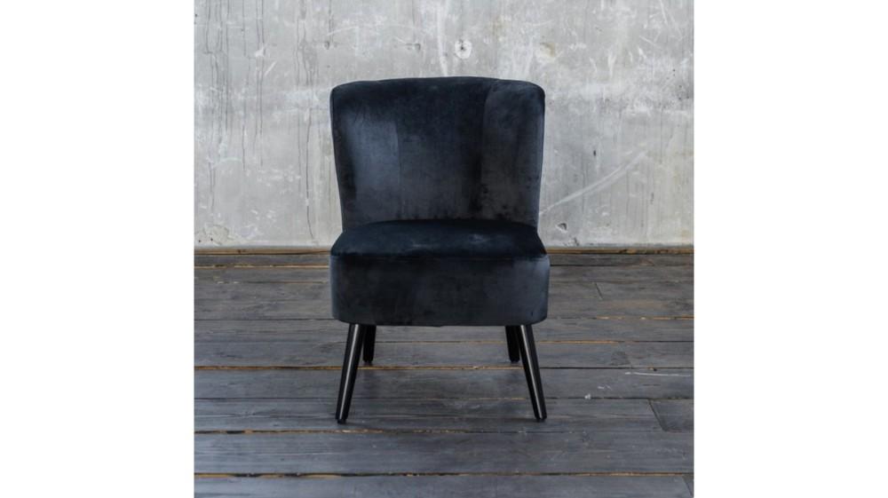 KAWOLA Sessel MINGO Bezug Velvet schwarz