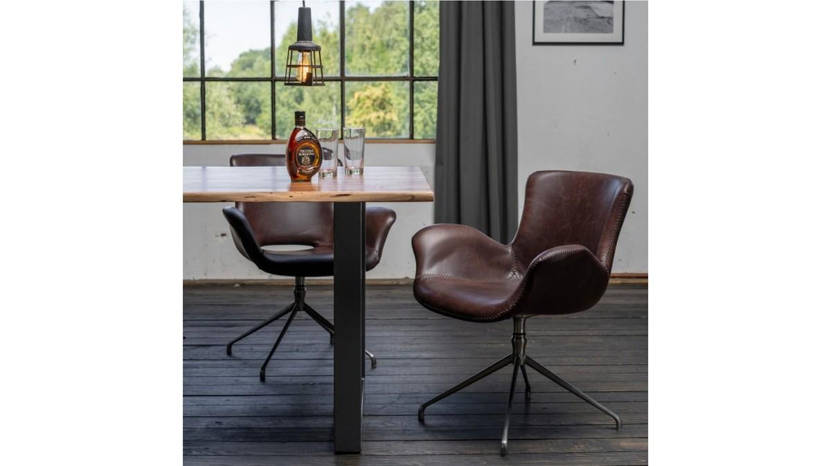 Stühle und Bänke - KAWOLA Stuhl KANO Esszimmerstuhl Drehstuhl Besprechungsstuhl braun coffee  - Onlineshop Moebel–style.de